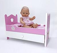 Кукла 28 CM с кроватью