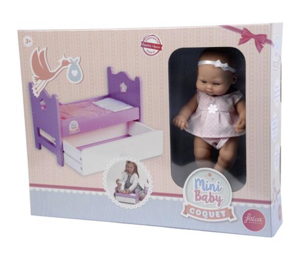 Кукла 28 CM с кроватью - фото 6