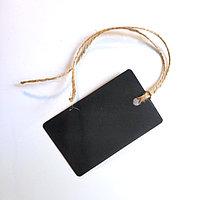 Бирка черная, картон 85х55мм