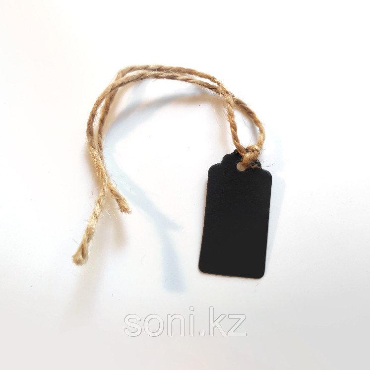 Бирка черная, плотная бумага