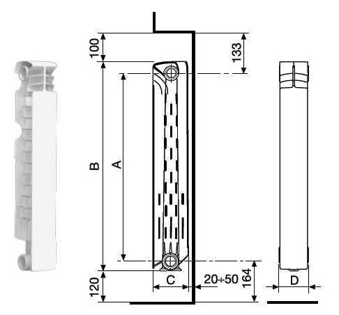 Радиатор алюминиевый Fondital Calidor Super B4 350/100 - фото 3