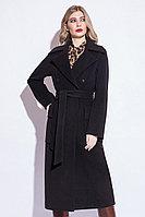 Пальто демисезонное, велюр, 40-48, черное