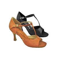 Туфли бальные женские сатин LAVINIA BR25029S Sansha Цвет Темно-бронзовый Размер 11 Материал Сатин