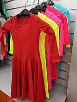 Платье рейтинговое длин.рукав без петли круглая горловина АККУ Цвет Неон Салатовый Размер 38 Материал Полиамид