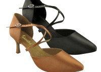 Туфли бальные женские сатин Evelina BR25025S Sansha Цвет Темно-бронзовый Размер 9 Материал Сатин