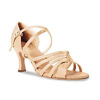 Туфли бальные женские сатин Gipsy BR31045S Sansha Цвет Светло-бронзовый Размер 10 Материал Сатин