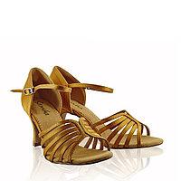 Туфли бальные женские сатин Mireya BR30068S Sansha Цвет Светло-бронзовый Размер 7 Материал Сатин