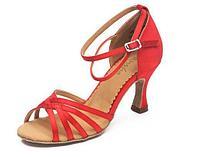Туфли бальные женские сатин Alaia BR30016S Sansha Цвет Красный Размер 9