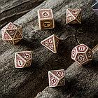 Набор игральных костей Викинги: бежевый/бордовый (7 шт.), фото 5