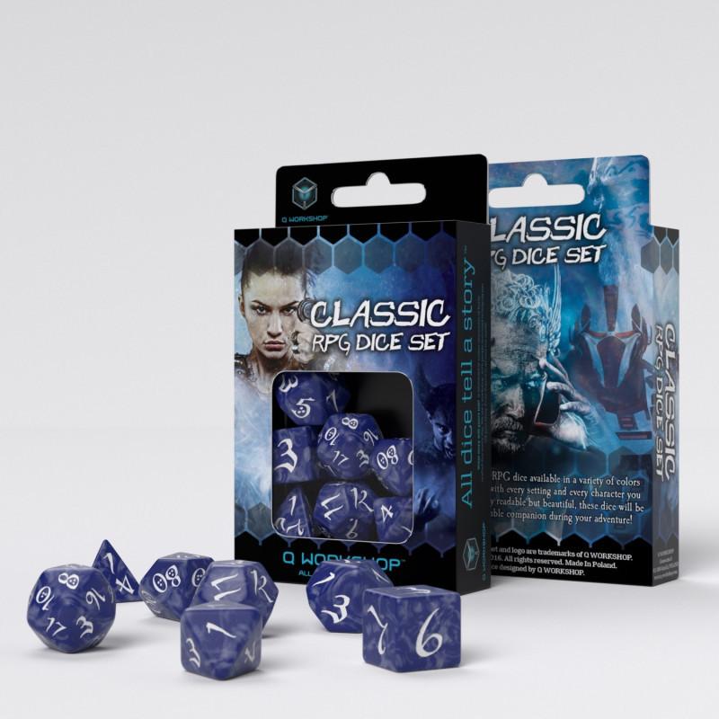 "Набор кубиков ""Классика"", 7шт., Cobalt/White"