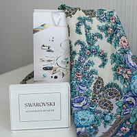 Платок Весенний ручеек с кристаллами Swarovski 125х125см (арт. 1428-4)