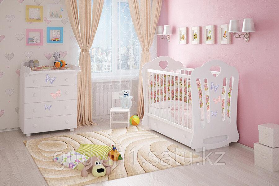 Кроватка детская «Шарлотта»(белая,сл.кость)