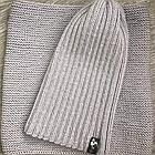 Комплект шапка и снуд серый (размер шапки 52-56), фото 2