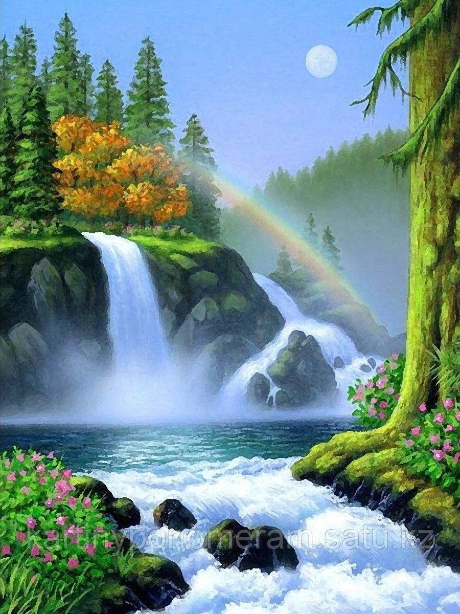 "Картины по номерам  ""Радуга над водопадом"""