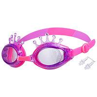 Очки для плавания «Корона», детские, цвет фиолетовый