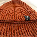 Комплект шапка и снуд терракот (размер шапки 54-56), фото 3
