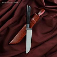 Нож Корд Куруш - Чирчик, граб черный, сухма, пуговица, гарда олово. У8 (11-12 см)