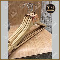 Плечики деревянные с перекладиной для брюк (бренд- 5)