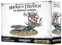Daemons of Tzeentch: Herald of Tzeentch on Burning Chariot (Глашатай Тзинча на пылающей колеснице)