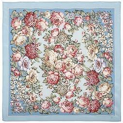Шелковый платок Чайные Розы 1443-3 (89х89см)