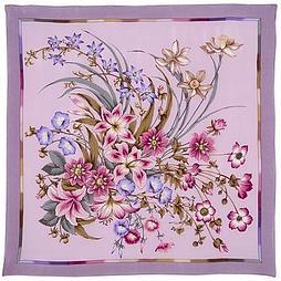 Шелковый платок Чистые Росы 661-4 (89х89см)