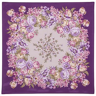 Шелковый платок Цветы для любимой 1595-15 (89х89см)
