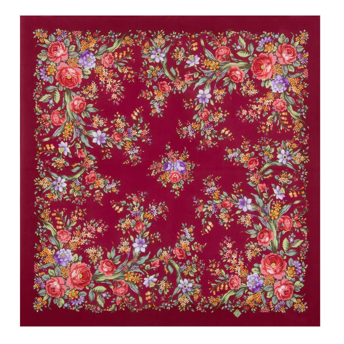 Шелковый платок Цветочное настроение 1732-6 (89х89см)