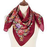 Шелковый платок Цветочное настроение 1732-6 (89х89см), фото 2