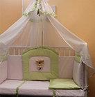 Комплект детского постельного белья БАЛУ ЛЮБИМЧИК кремовый(желтый) балд 4м борт 4-х сторон 7пр