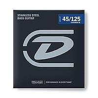 Комплект струн для 5-струнной бас-гитары, нерж.сталь, Medium, 45-125, Dunlop DBS45125T Tapered B