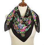 Шелковый платок Цветочное настроение 1732-6 (89х89см), фото 6