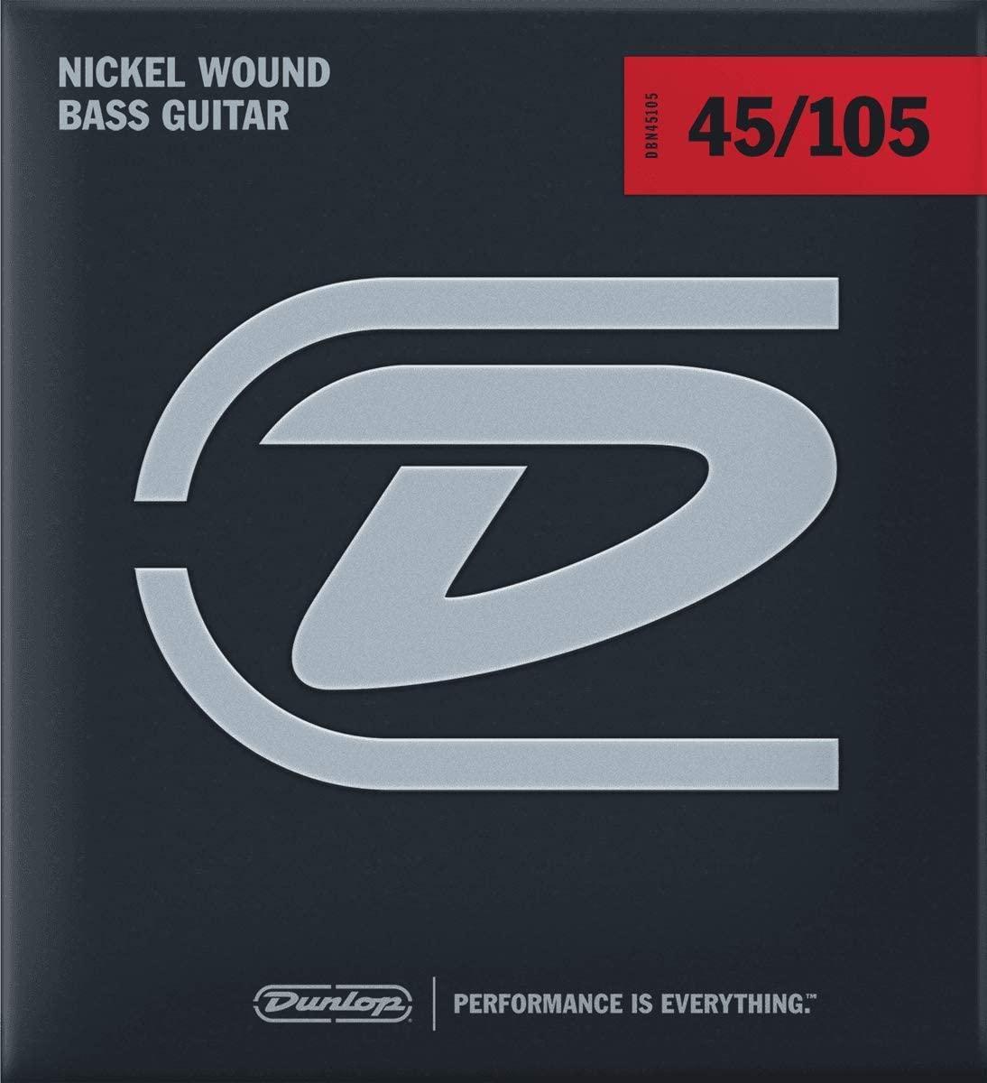 Комплект струн для бас-гитары, никелированные, Medium Light, 45-105, Dunlop DBN45105