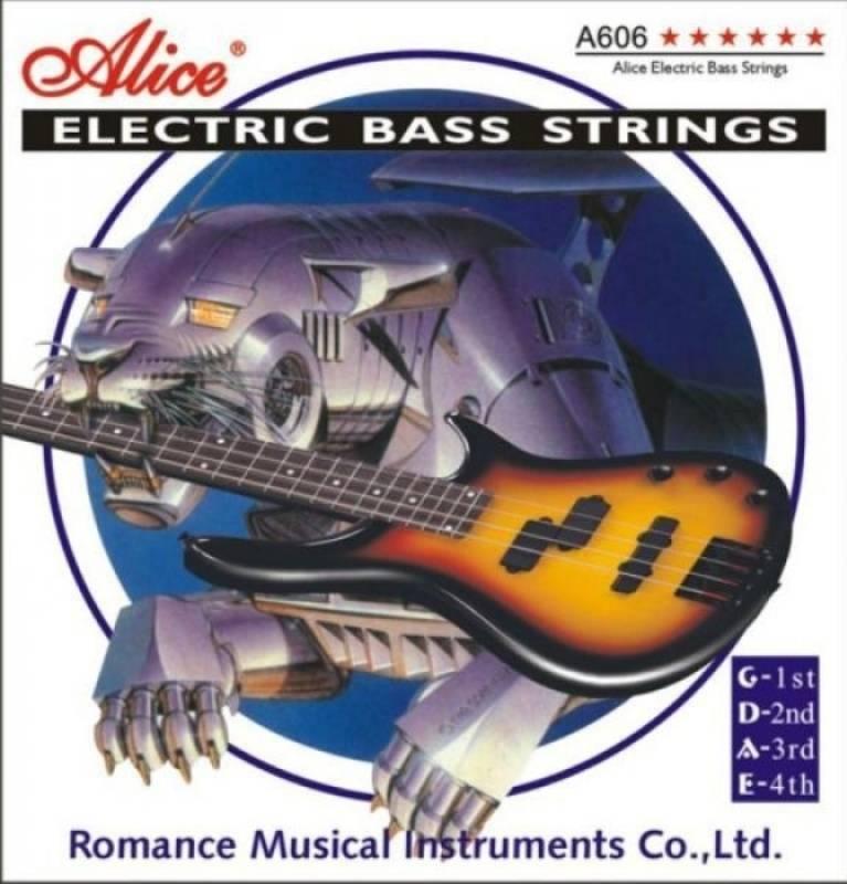 Комплект струн для бас-гитары, никель, 45-105 [10] Alice A606(4)-M