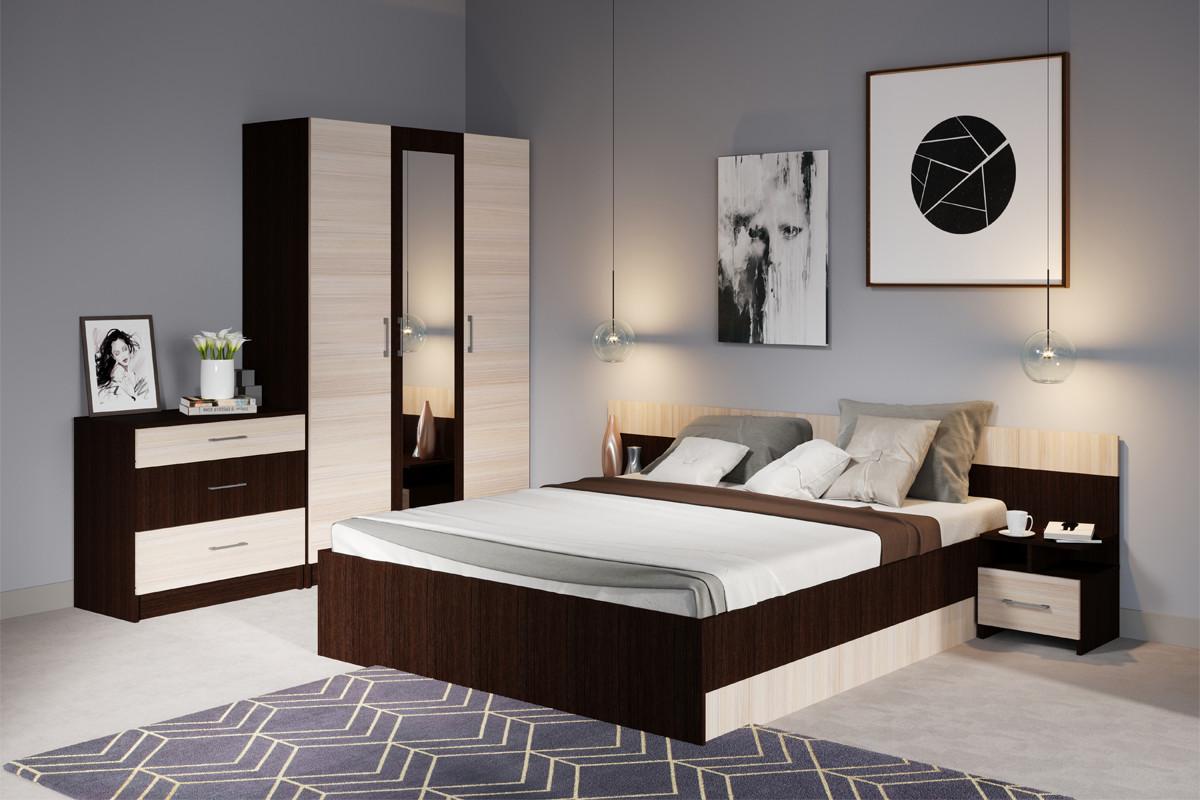 Комплект мебели для спальни Алена, Дуб Молочный, Империал(Россия)