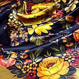 Шелковый платок Жостовский Букет 10063-2 (89х89см), фото 2