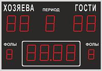 Табло спортивное универсальное 1000 х 700 х 44 мм, высота символов 150 мм