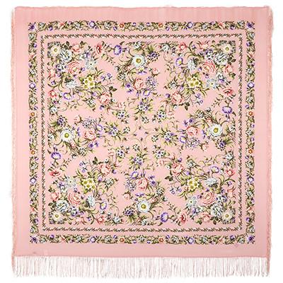 Павлопосадская шаль Цветущая весна 1562-3 (130х130см)