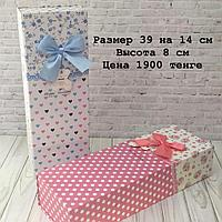 "Подарочная коробка "" Голубой бантик "" 14 х 8 х 39 см"