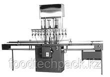 PERL BOST-CT. Полуавтоматическая машина для разлива жидкости по уровню (10 дозировочные головки)