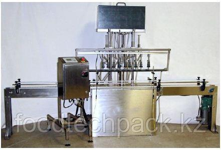 Автоматическая машина для дозирования жидкости по уровню (6 дозировочные головки)