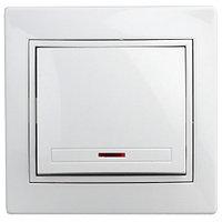 Выключатель с подсветкой с/у 10АХ-250В, Intro Plano