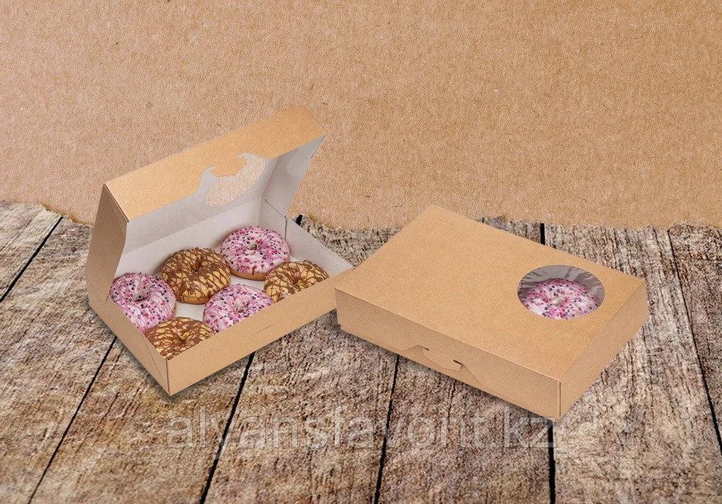 ECO DONUTS M - упаковка для пончиков, размер 185*270*55 мм. РФ