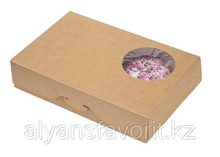 ECO DONUTS M - упаковка для пончиков, размер 185*270*55 мм. РФ, фото 2