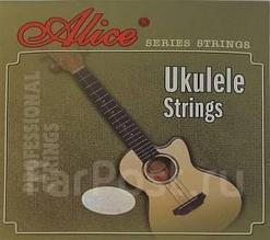 Комплект струн для укулеле, прозрачный нейлон [20] Alice AU04