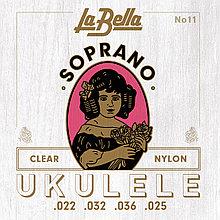Струны для укулеле LaBella No11, soprano, Clear Nylon.