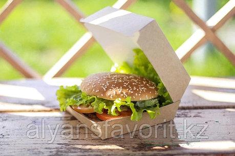 Eco Burger М - упаковка для бургеров, размер: 100*100*60 мм.РФ, фото 2