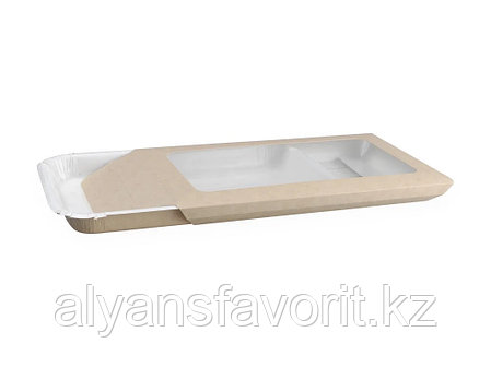ECO PLATTER- упаковка для нарезок 400 мл, размер:220*140*20 мм.  РФ, фото 2