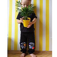Наколенники штаны джоггеры черные Размер 86 см (12-18 мес)