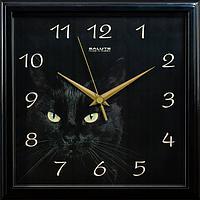 Часы настенные Салют Чёрная кошка П-2А6-412