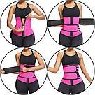 Утягивающий двойной спортивный поясной корсет для похудения, фото 9